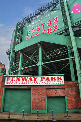 Redsox Photograph - Boston Redsox - Fenway Park by Bill Cannon