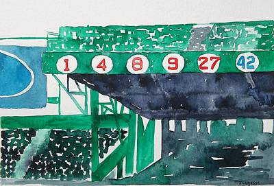 Fenway Park Boston Painting - Boston Retired Numbers by James Lagasse