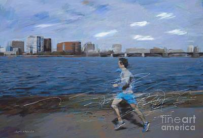 Boston River Art Print
