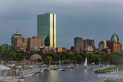 Caravaggio - Boston Riverside At Dusk by Judy Wolinsky