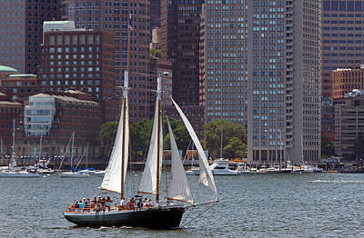 Photograph - Boston Sailing by Juergen Roth