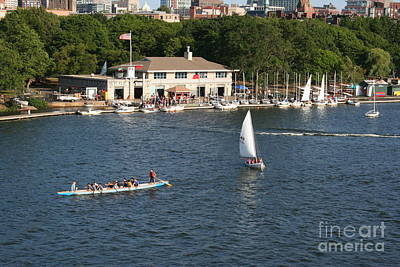 Photograph - Boston Sailing On The Charles River  by Julie Lueders