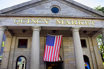 Photograph - Quincy Market - Boston Series 14 by Carlos Diaz
