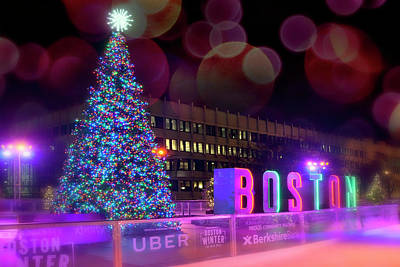 Photograph - Boston Skating Rink - Boston Winter by Joann Vitali