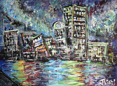 Boston Sky At Night Original by Jason Gluskin