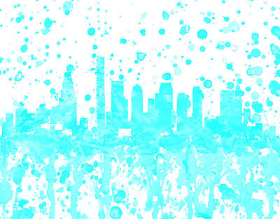 Boston Skyline 1a Art Print