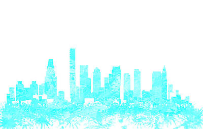 Boston Skyline 1b Art Print