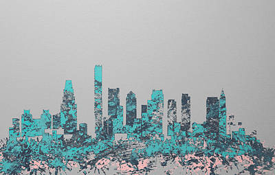 Boston Skyline 1c Art Print