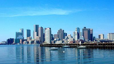 Photograph - Boston Skyline A by Caroline Stella