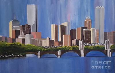 Boston Skyline Original by Abbe Ritchie