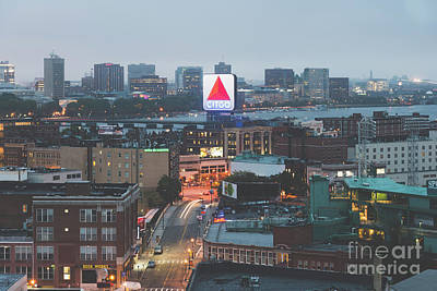 Cambridge Photograph - Boston Skyline Aerial Citgo Sign Photo by Paul Velgos