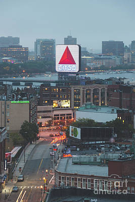 Fenway Park Photograph - Boston Skyline Aerial Photo With Citgo Sign by Paul Velgos