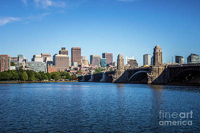 Boston Skyline And Longfellow Bridge Photo Art Print by Paul Velgos