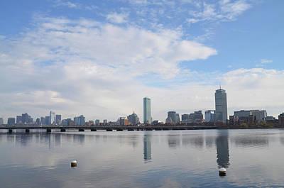 Harvard Photograph - Boston Skyline And The Harvard Bridge by Bill Cannon