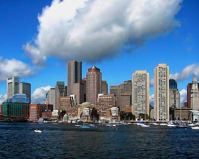 Photograph - Boston Skyline by Anthony Dezenzio