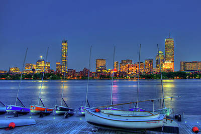 Photograph - Boston Skyline At The Mit Sailing Pavilion by Joann Vitali
