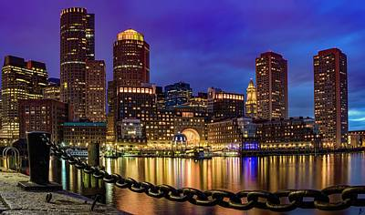Photograph - Boston Skyline Blue Hour by Patrice Bilesimo