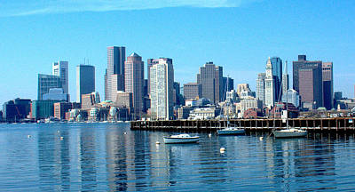 Photograph - Boston Skyline C by Caroline Stella