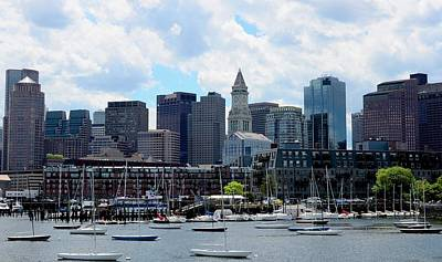 Photograph - Boston Skyline by Corinne Rhode