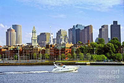 Glass Wall Photograph - Boston Skyline by Elena Elisseeva