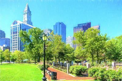 Photograph - Boston Skyline From Columbus Park by Thomas Logan