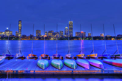 Charles River Photograph - Boston Skyline From Mit Sailing Pavilion by Joann Vitali