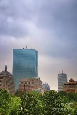 Photograph - Boston Skyline From Public Garden by Elizabeth Dow