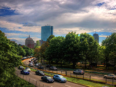Photograph - Boston Skyline From Storrow Drive by Joann Vitali
