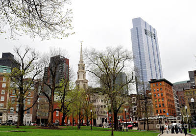 Photograph - Boston Skyline From The Common by Staci Bigelow