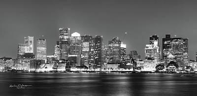 Skylines Digital Art - Boston Skyline by Garland Johnson