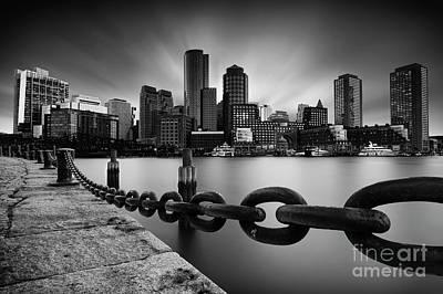 Long Chain Photograph - Boston Skyline by Geoffrey Gilson