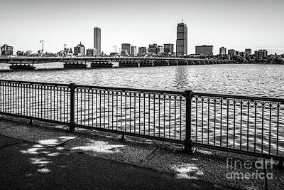 Massachusetts Photograph - Boston Skyline Harvard Bridge Back Bay Photo by Paul Velgos