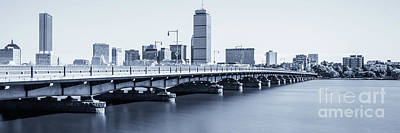 Charles River Photograph - Boston Skyline Harvard Bridge Panorama Photo by Paul Velgos