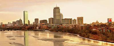 Boston Skyline On A December Morning Art Print by Mitchell R Grosky