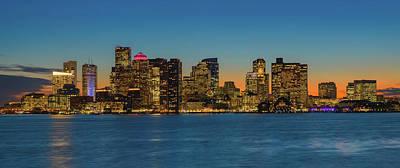 Photograph - Boston Skyline - Panorama by Michael Blanchette