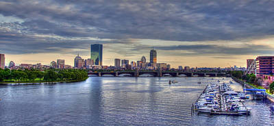 Boston Skyline Panoramic 3 Art Print