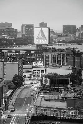 Fenway Park Photograph - Boston Skyline Photo With The Citgo Sign by Paul Velgos