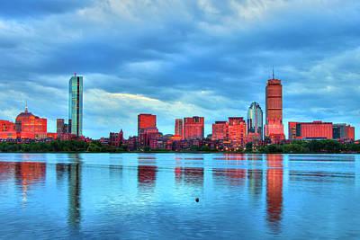 Photograph - Boston Skyline Sunset - Back Bay by Joann Vitali