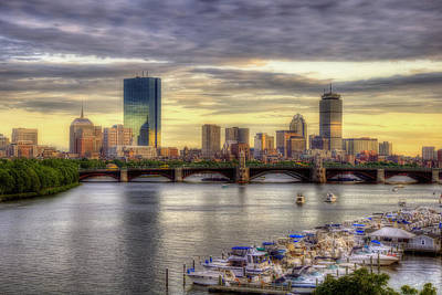 Photograph - Boston Skyline Sunset Custom Xl by Joann Vitali