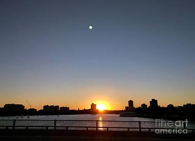 Photograph - Boston Skyline Sunset   by Haleh Mahbod