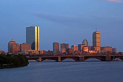 Boston Skyline Sunset Art Print by Juergen Roth