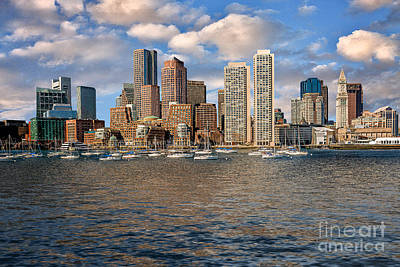 Boston Skyline  Art Print by Tamyra Ayles