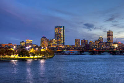 Boston Skyline Twilight Over Back Bay Art Print
