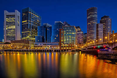 Photograph - Boston Skyline Twilight by Susan Candelario