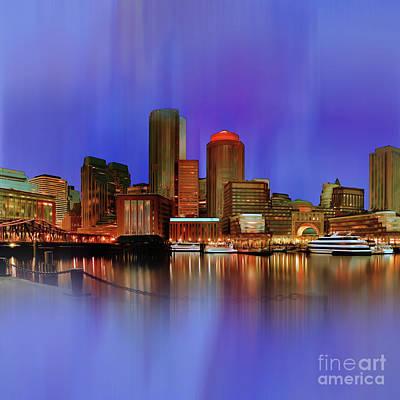 Boston Painting - Boston Skyline Usa by Gull G