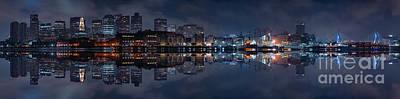 Boston Photograph - Boston Skyline With Zakim Bridge by Isaac S