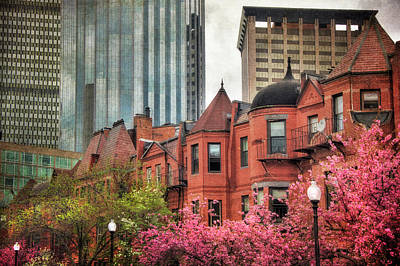 Photograph - Boston South End Brownstones by Joann Vitali