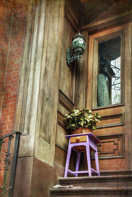 Boston South End Doorways Art Print by Joann Vitali