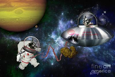 Boston Space Exploration Art Print by Eric Chegwin
