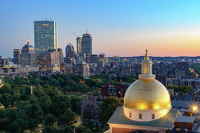 Photograph - Boston State House by Michael Hubley